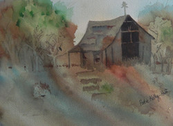 Pole Barn - Watercolor
