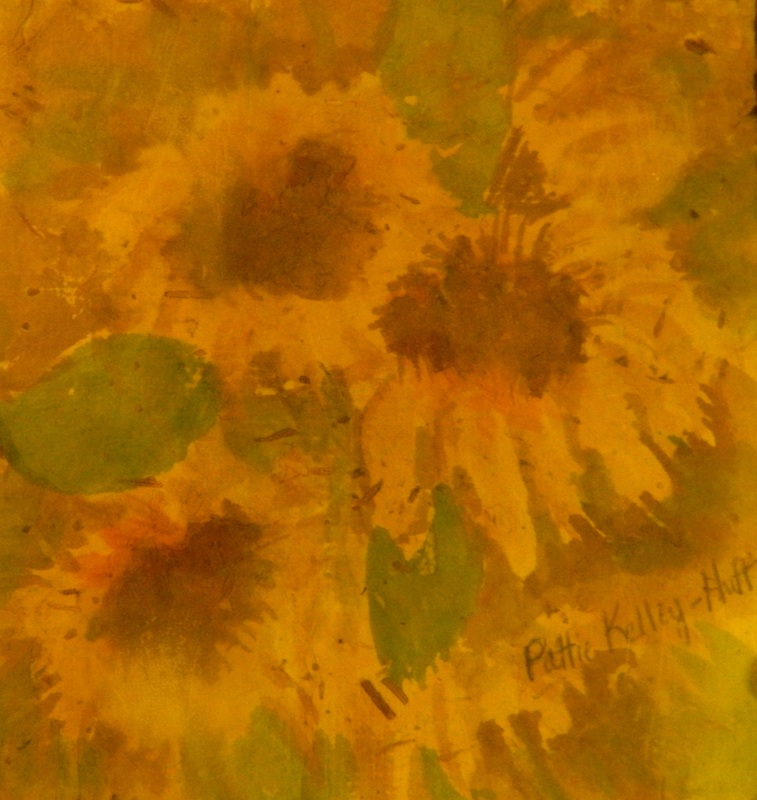Handmade Paper Sunflowers - Watercolor