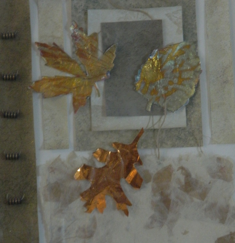 Leaves in Metal - Mixed Media