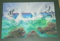 Salt Water Spray - Watercolor