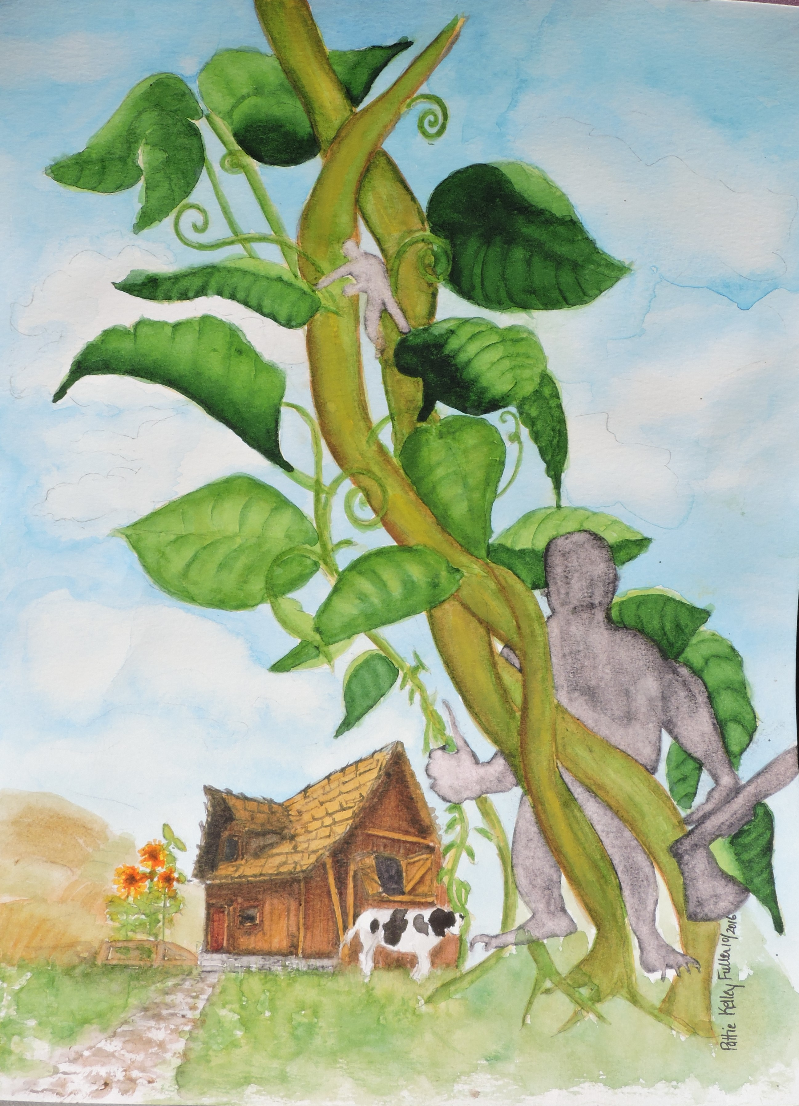 Jack and the Beanstalk Watercolor