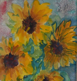 Bold Sunflowers - Watercolor