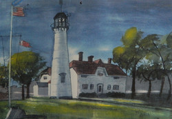 Cape Cod (For Display only - No sale) - Watercolor