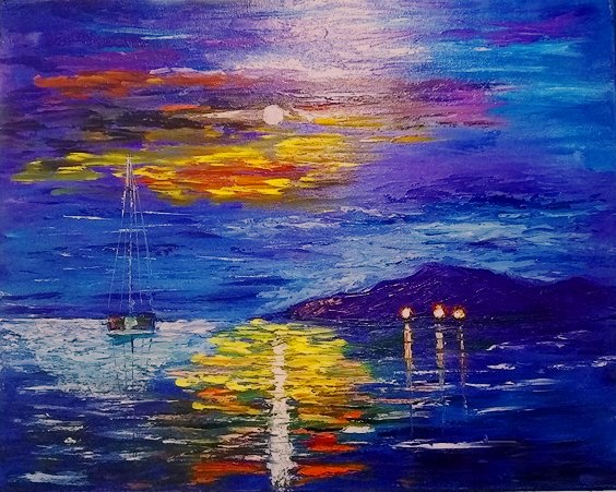 Sailboat - Oil