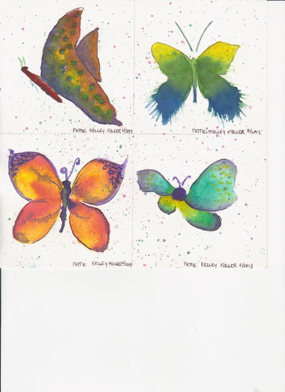 Butterflies - Watercolor