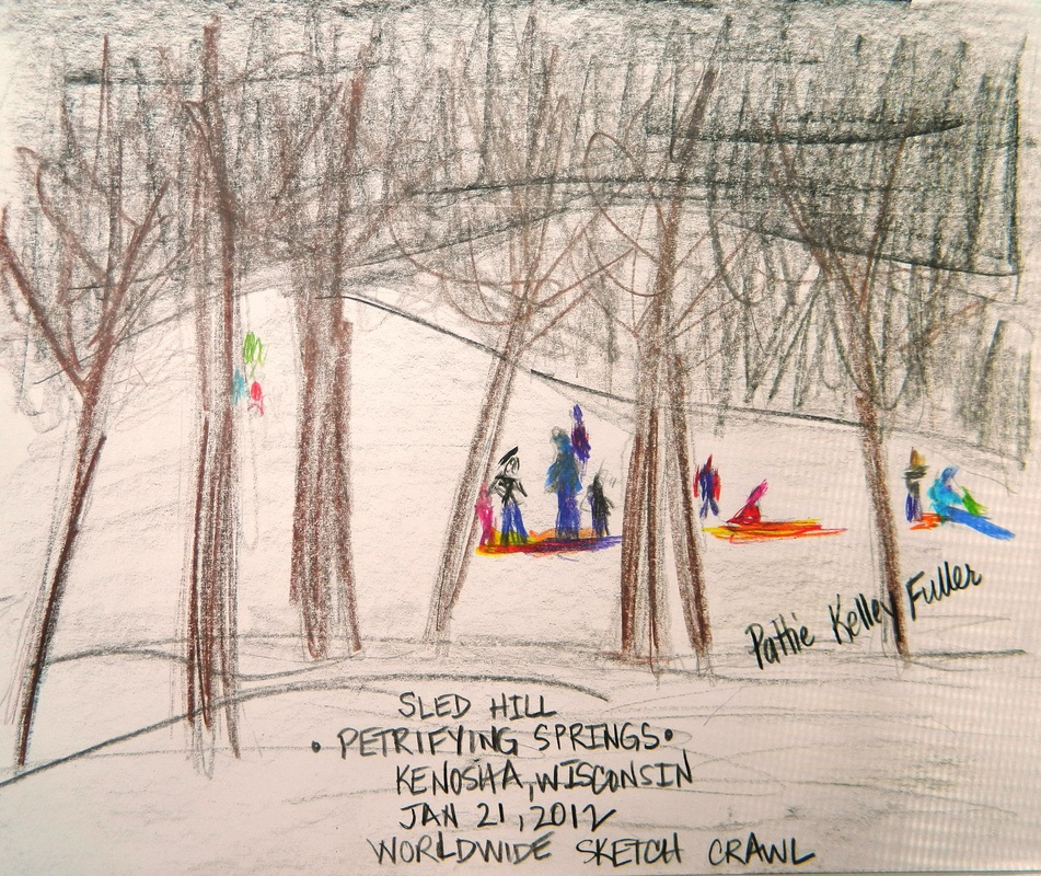Sledding at Petrifying Springs - Graphite