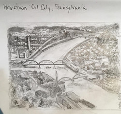 Hometown Oil City, Pennsylvania - graphi