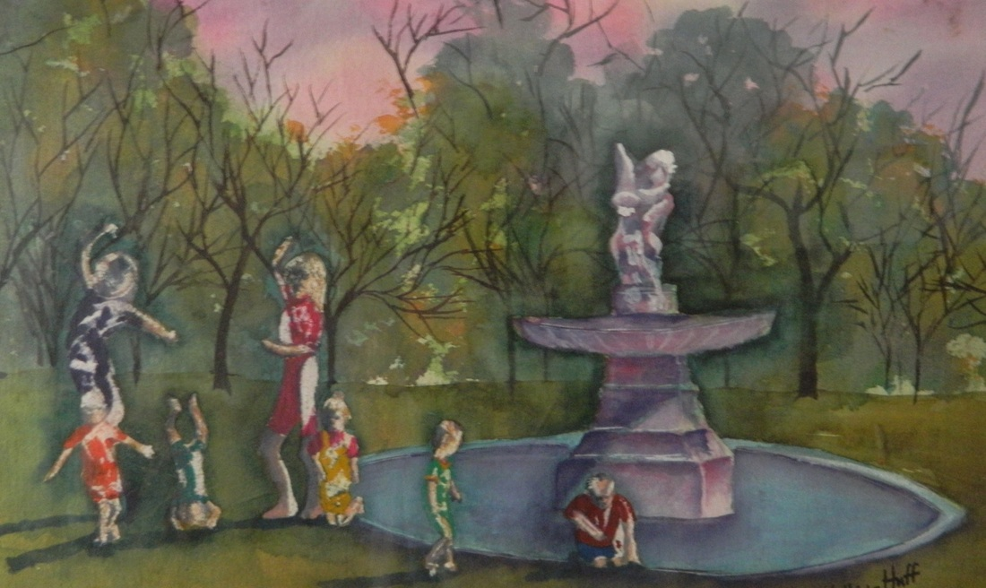 Dance at Laguna Gloria - Watercolor