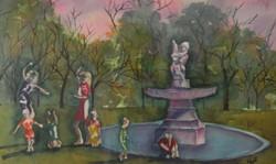 Dance at Laguna Gloria - Watercolor