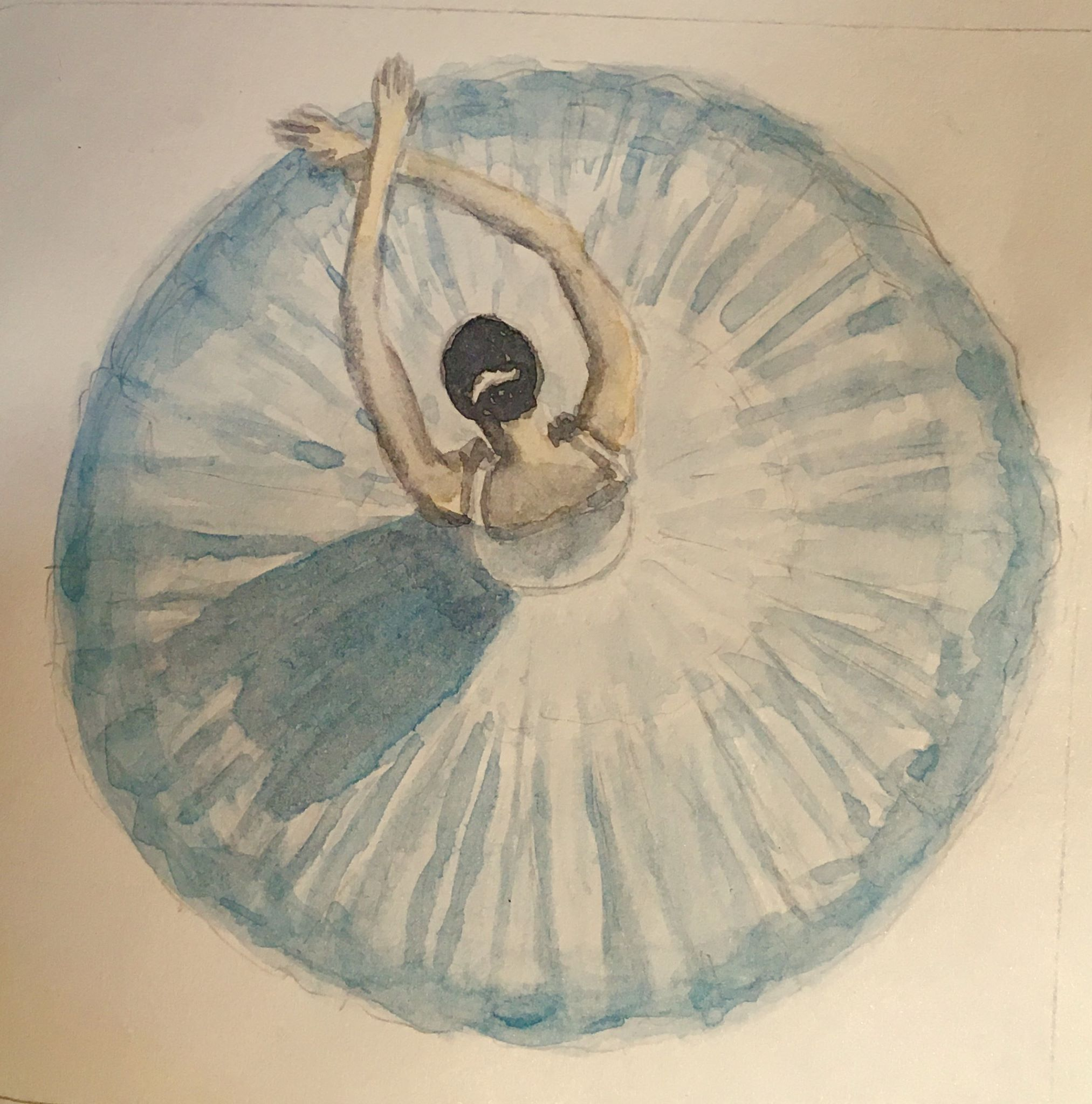 Ballerina - watercolor