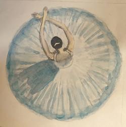 Ballerina - watercolor