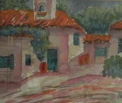 Hacienda - Watercolor