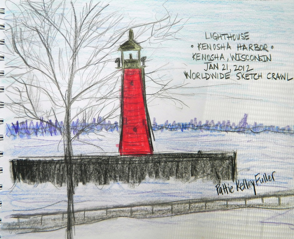 Kenosha Harbor Light House - Graphite