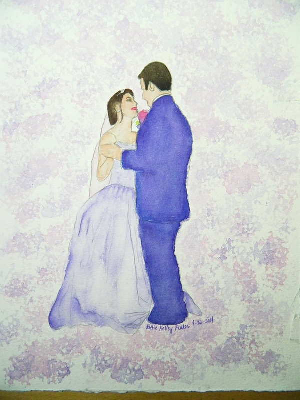 Meghan and Andy (For Display only - No sale) - Watercolor