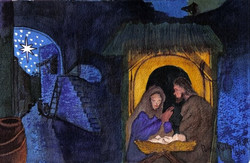 Nativity - Watercolor