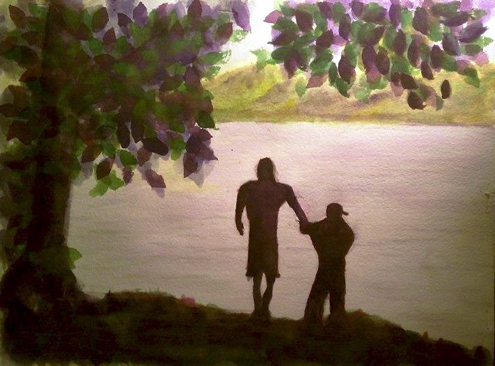 Silhouettes of the Past - Watercolor