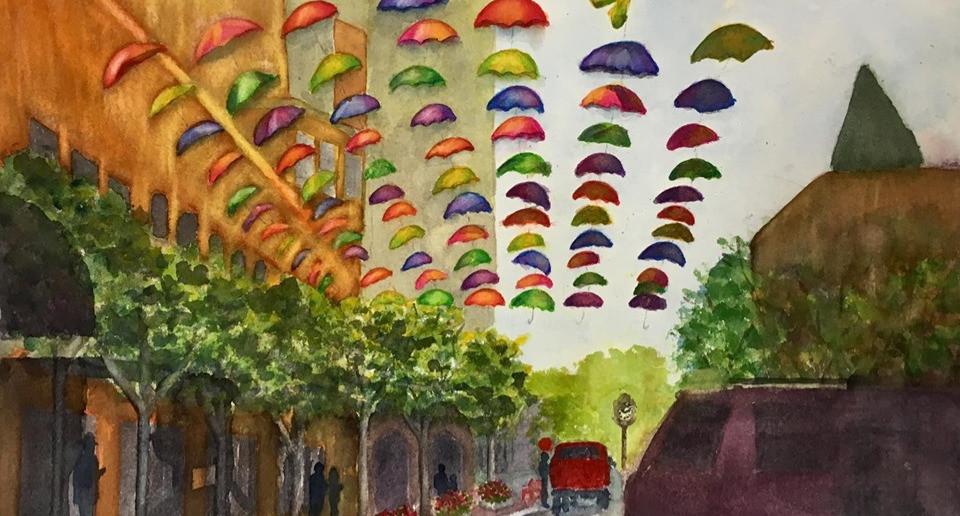 Umbrellas in Wausau, Wisconsin - waterco