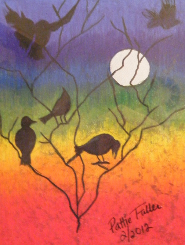 Crows (For Display only - No sale) - Mixed Media