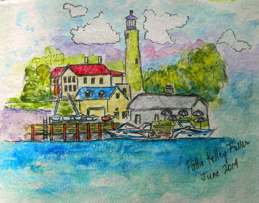 Kenosha Harbor - Watercolor