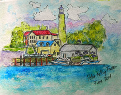Kenosha Harbor - Watercolor