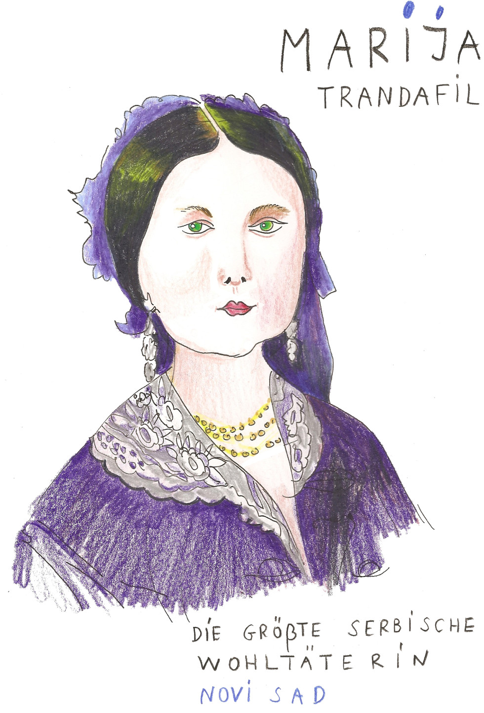 HISTORICAL WOMEN PORTRAIT, Novi Sad
