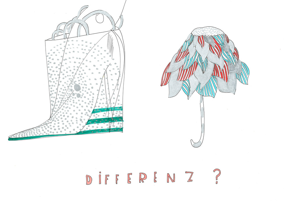 DIFFERENZ, paper, fineliner, polychromos 21cmx29.7cm © Natalija Ribovic 2018