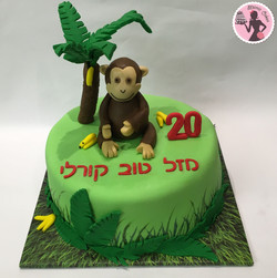 עוגת ג'ונג'ל- קוף
