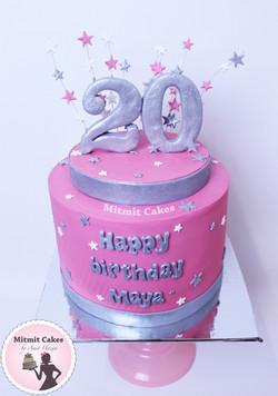עוגה גיל 20