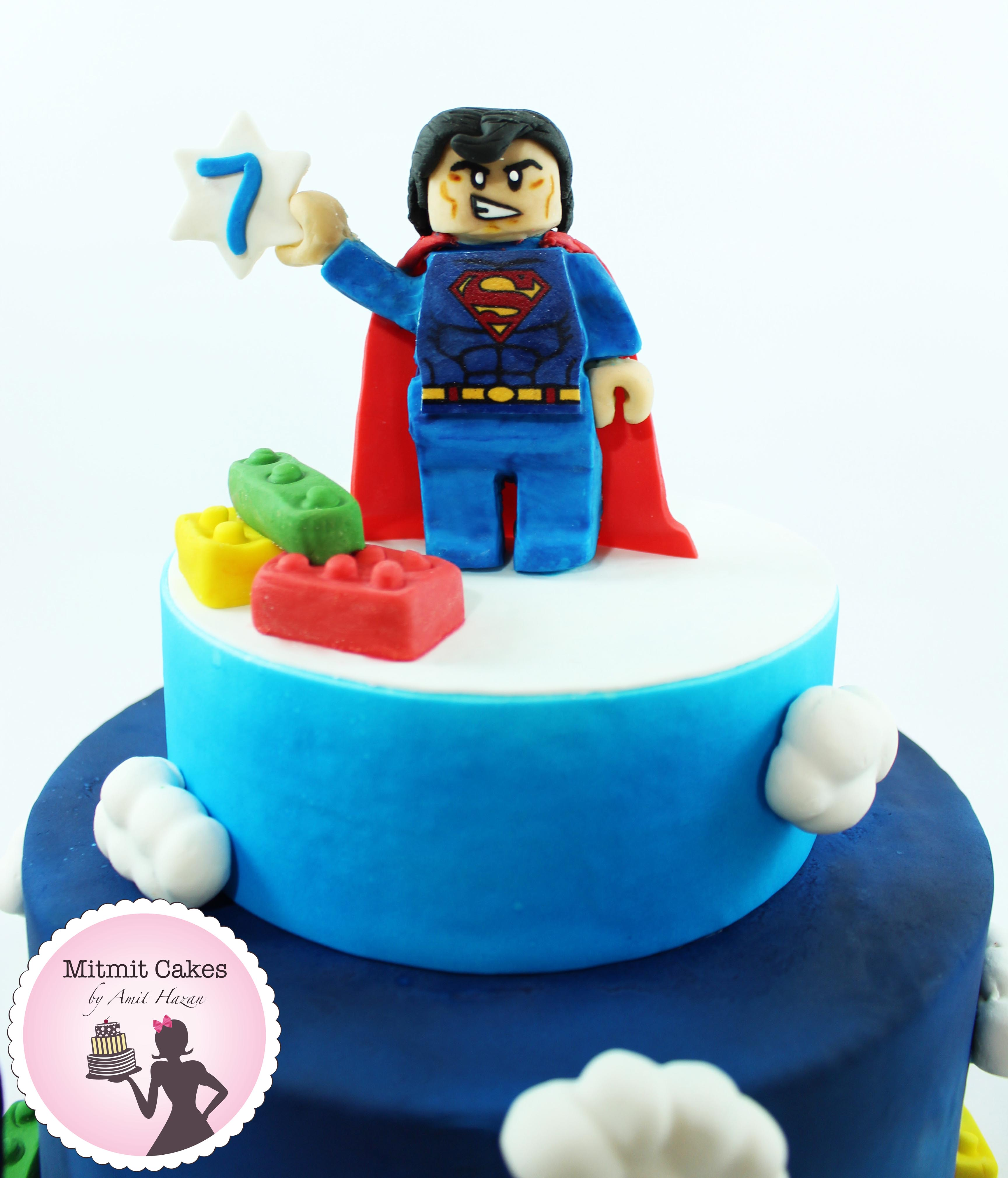 עוגת לגו סופרמן