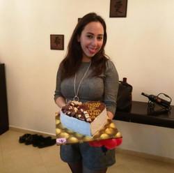 עוגת מוס אוריאו ליום הולדת מתנה מהמש