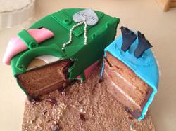 עוגת שחרור מבפנים
