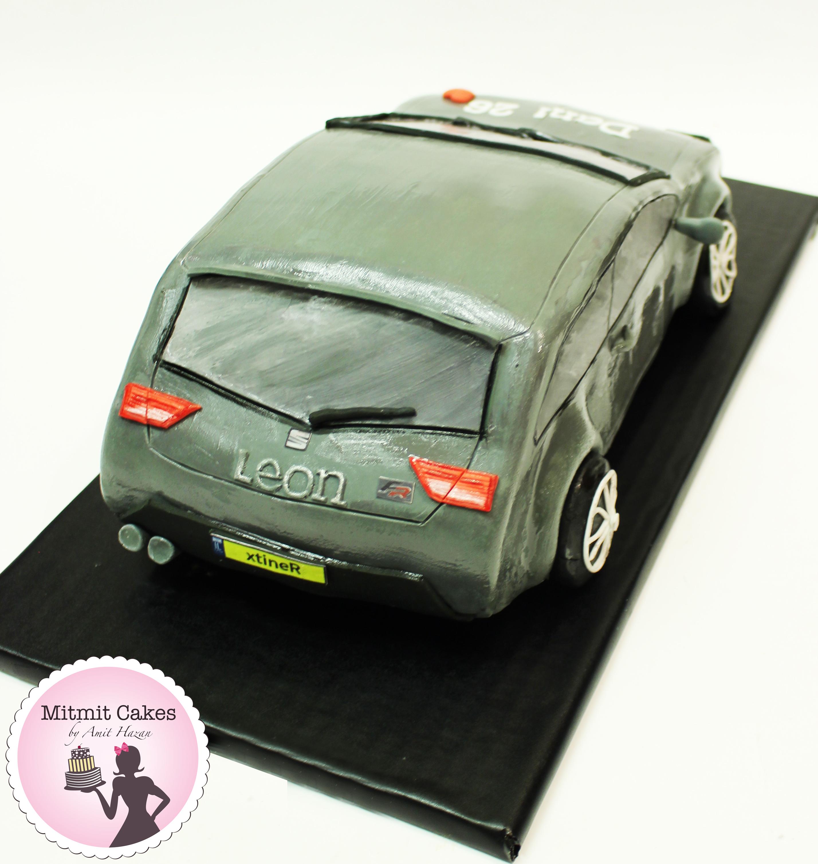 עוגת מכונית סיאט ליאון