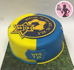 עוגת כדורגל מכבי תל אביב