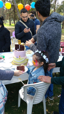 אמילי המתוקה ליד עוגת הנסיכות שלה
