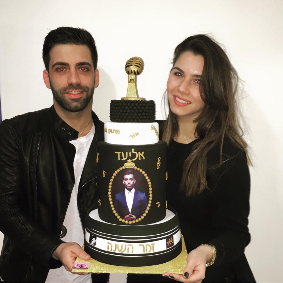 אליעד נחום עם עוגה ליום הולדתו
