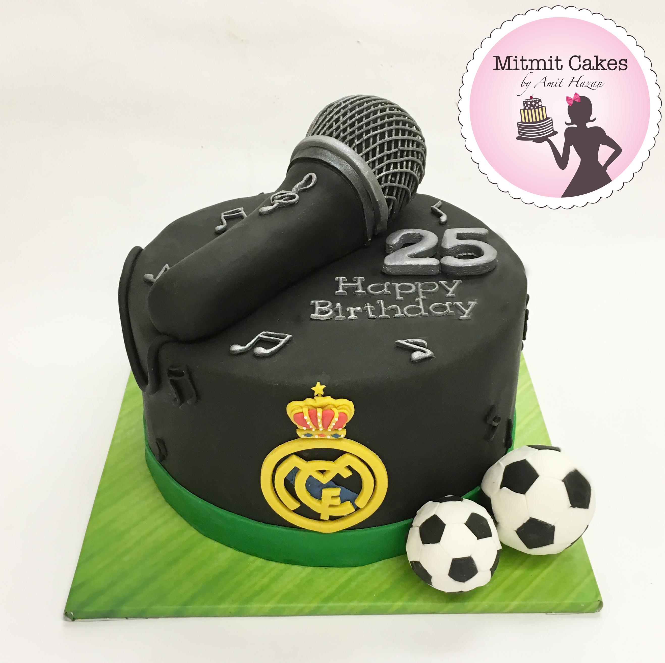 עוגת כדורגל ריאל מדריד ומוזיקה