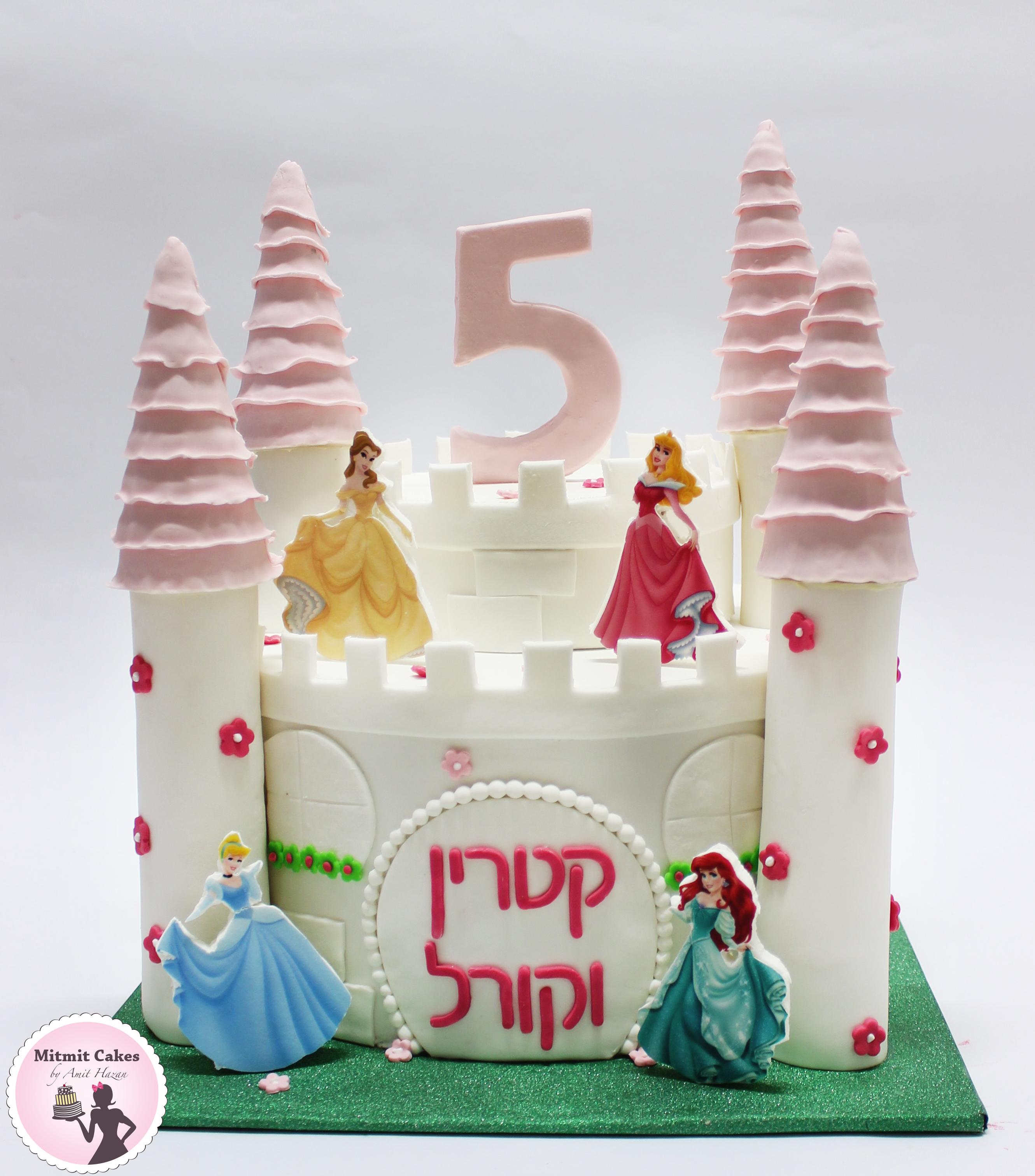 עוגה עם ארמון נסיכות