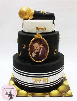 עוגה מקרופון לזמר