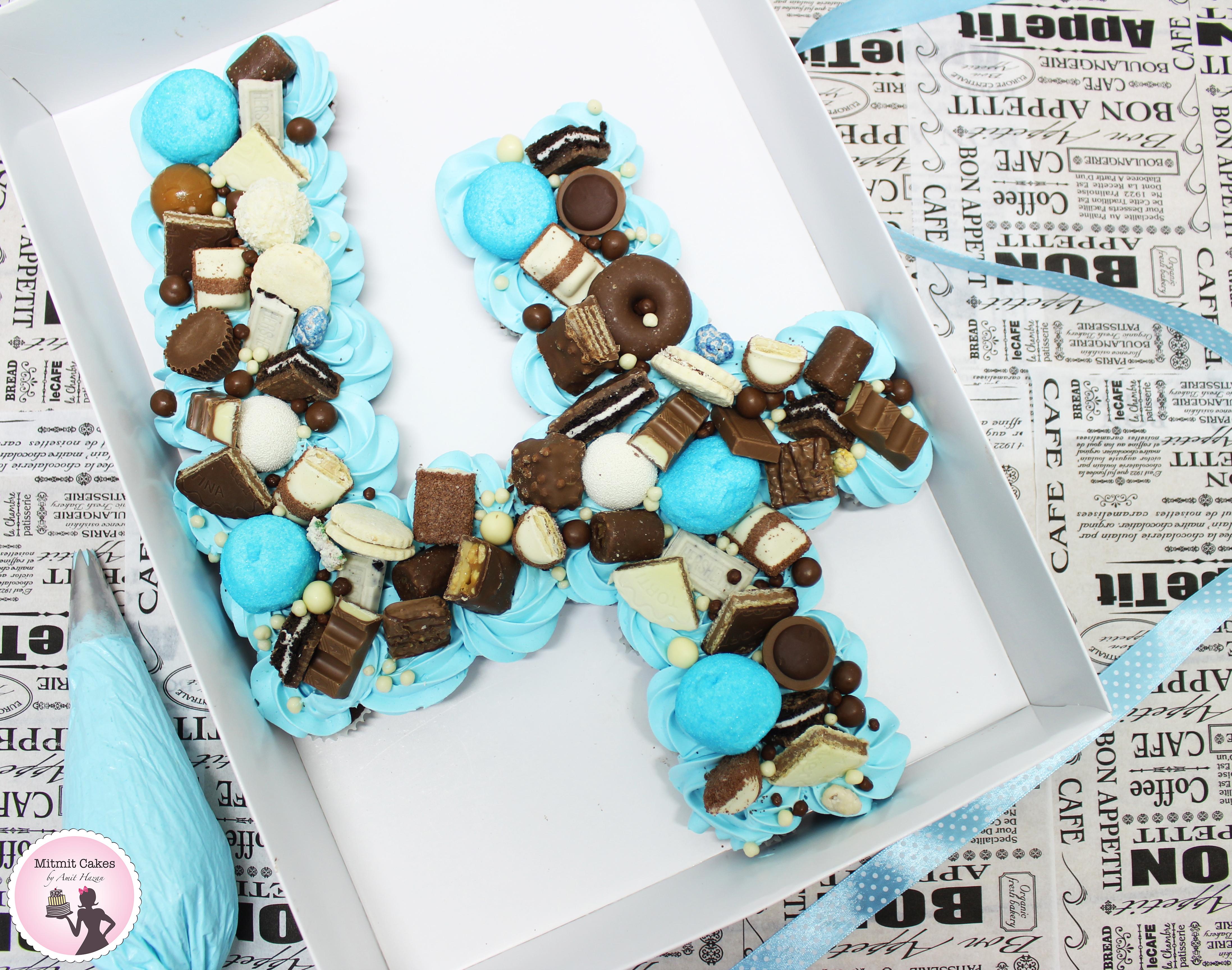 עוגת יום הולדת מיני מאפינס