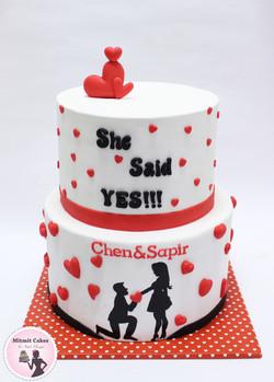 עוגה הצעת נישואין