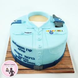 עוגה לקבלת דרגה בחיל האוויר