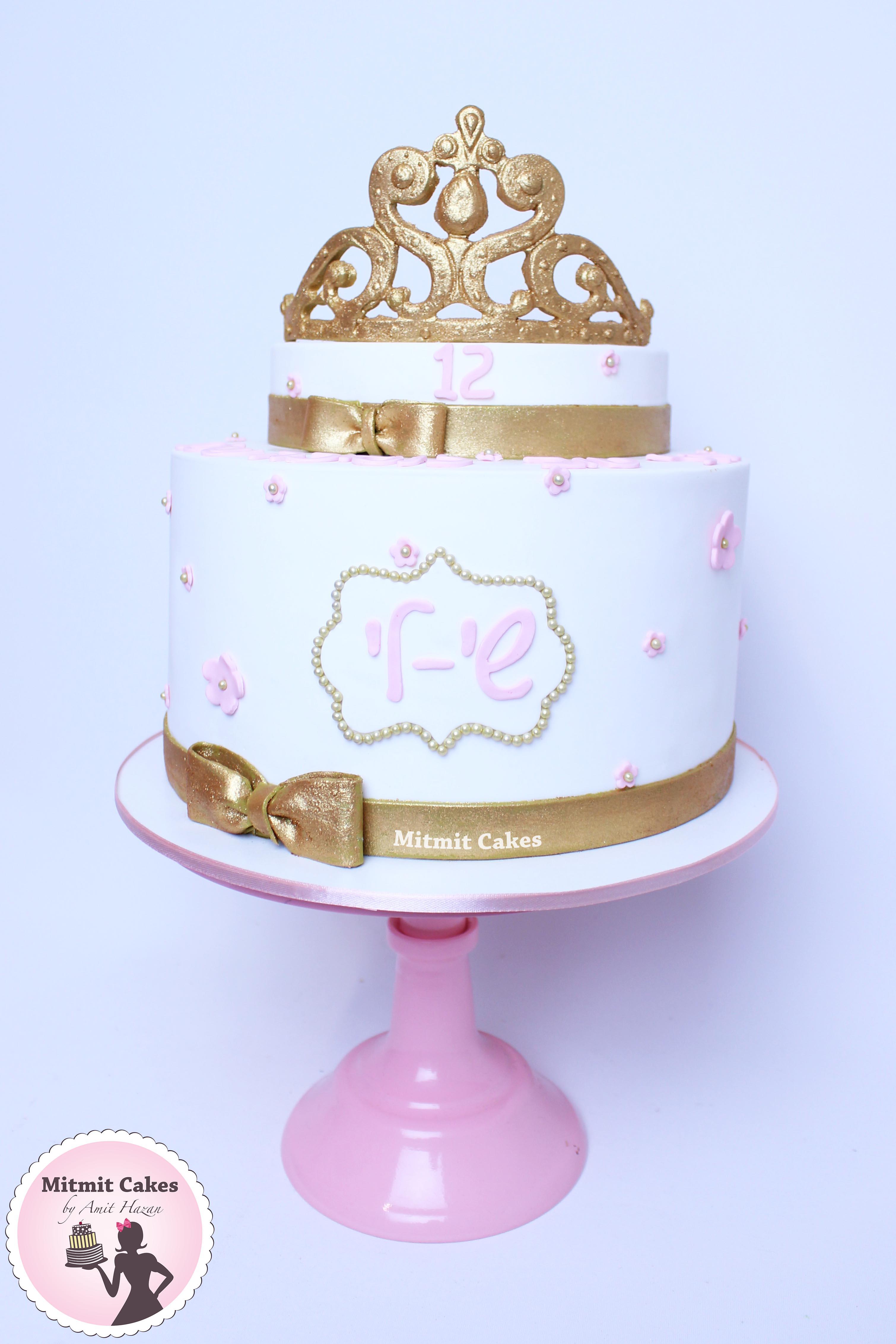 עוגת כתר בת מצווה