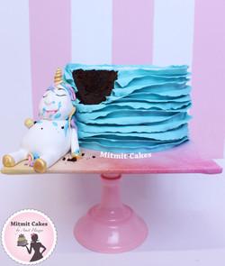 עוגת חד קרן שמן
