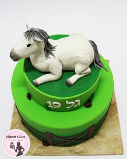 עוגה עם סוס
