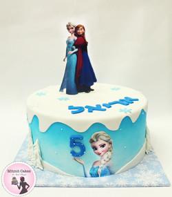 עוגה אנה ואלזה- פרוזן