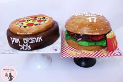 עוגה המבורגר, עוגה פיצה