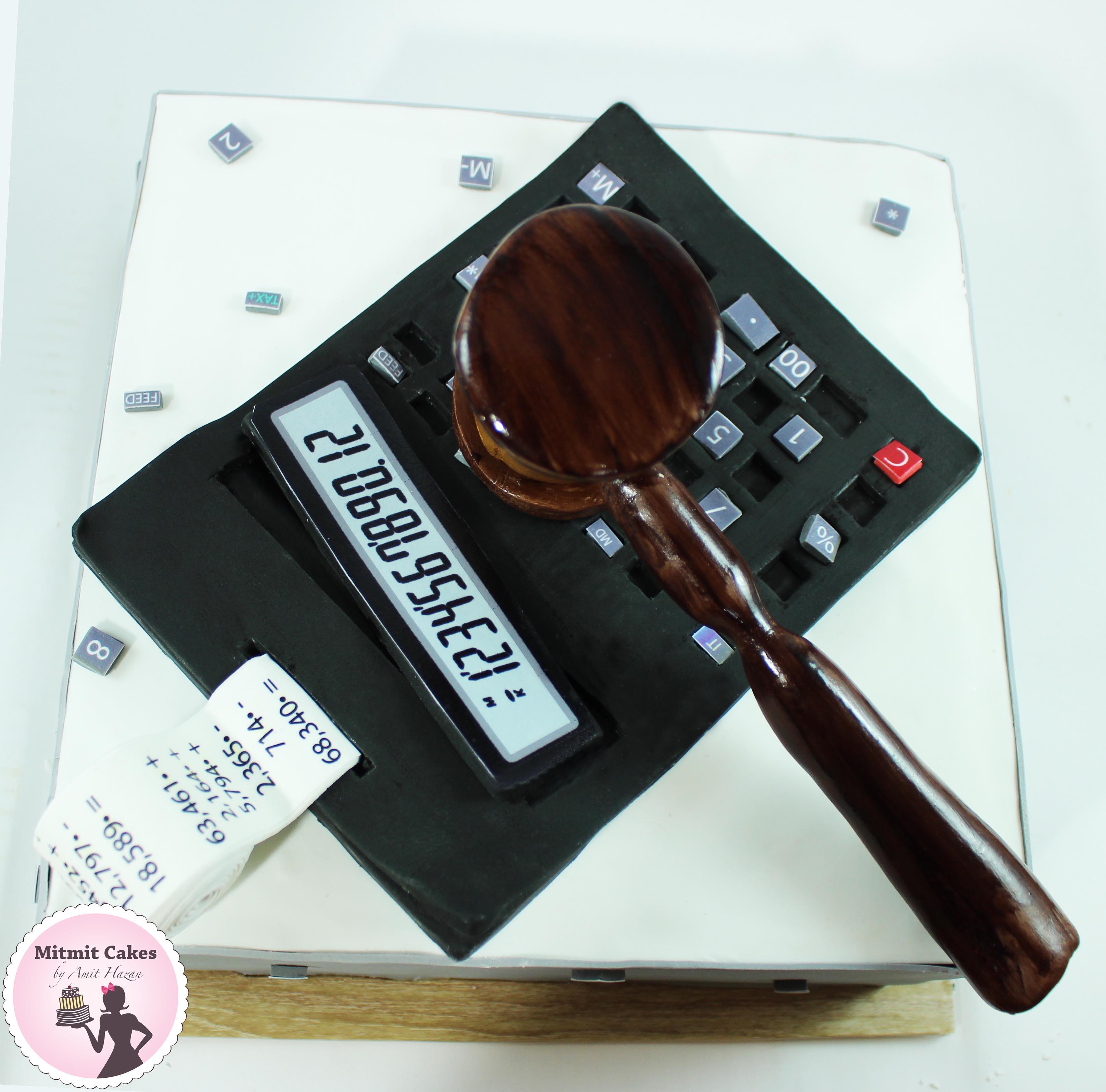 עוגה מחשבון עם פטיש