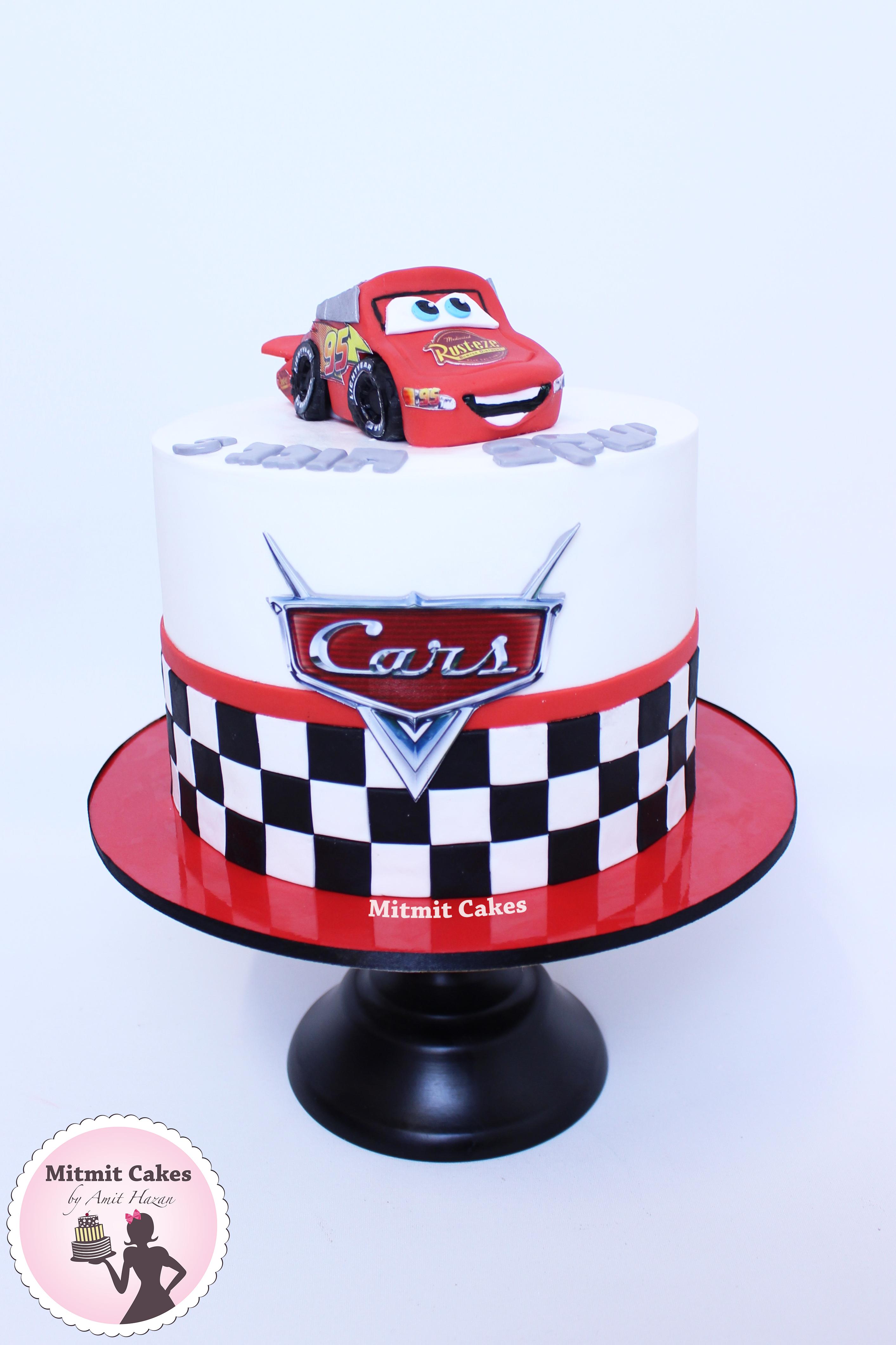 עוגה ספידי מקווין- מכוניות