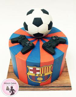 עוגת כדורגל ופליסטיישן