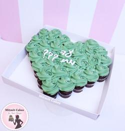 עוגת שחרור לב קאפקייקס